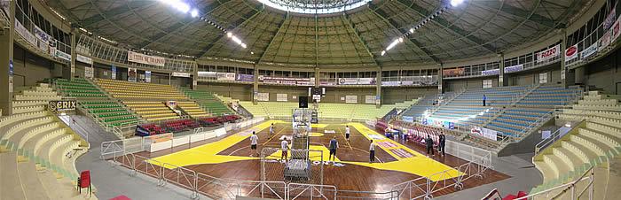 Campo di Basket nel Palasport di Piazzale Ilio